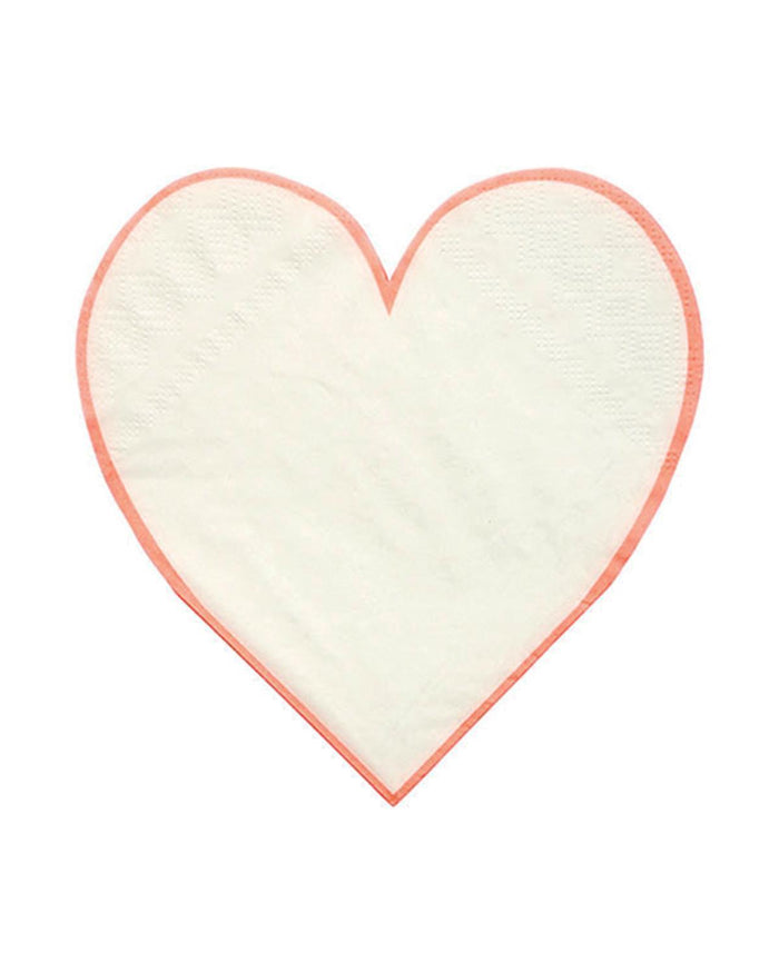 Little meri meri paper+party Heart Napkins