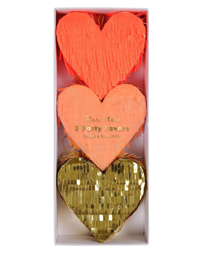Little meri meri paper+party heart piñata favors