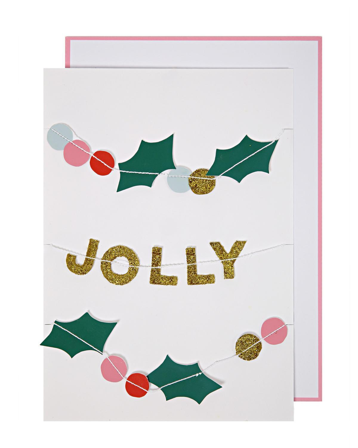 Little meri meri paper+party Holly Jolly Christmas Card