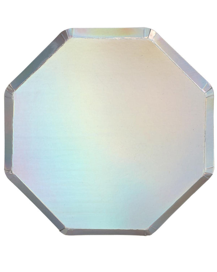 Little meri meri paper+party holographic dinner plate