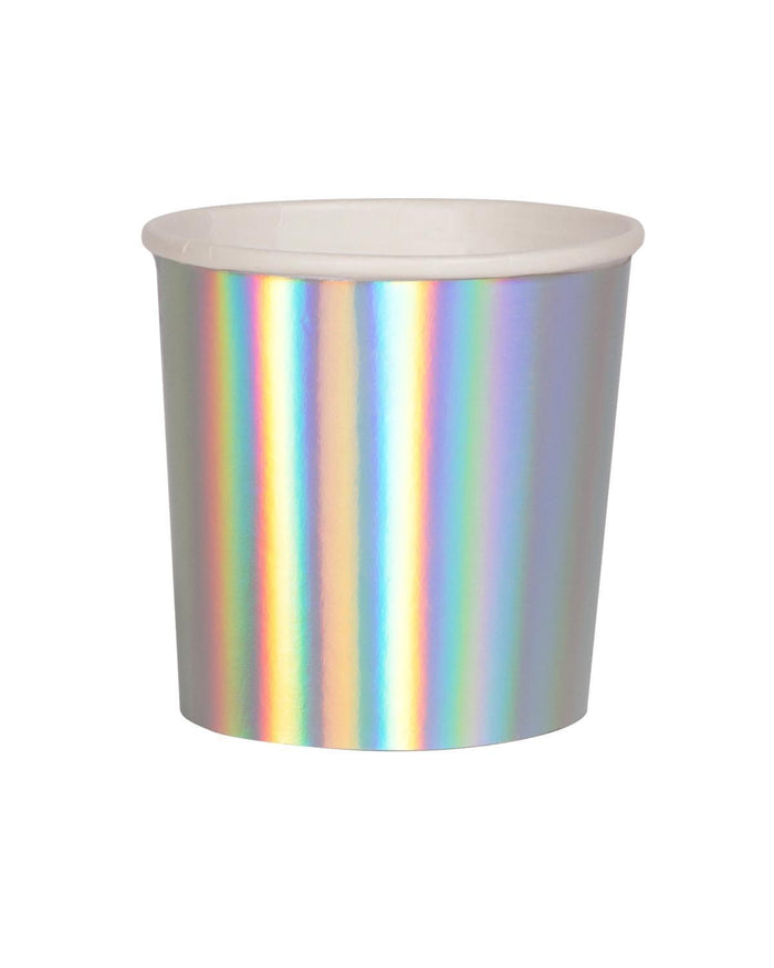 Little meri meri paper+party holographic tumbler cup
