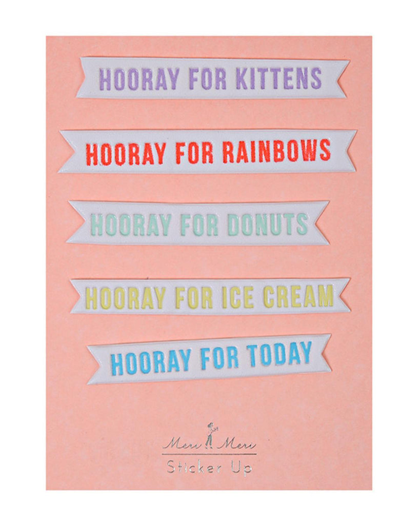 Little meri meri paper+party Hooray Phrase Stickers