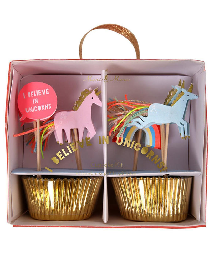 Little meri meri paper+party I Believe in Unicorns Cupcake Kit