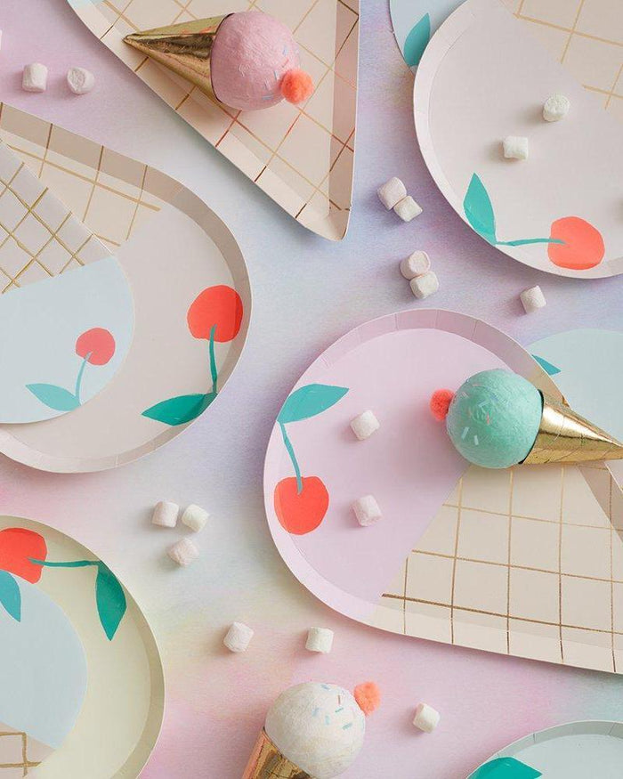 Little meri meri paper+party ice cream plates