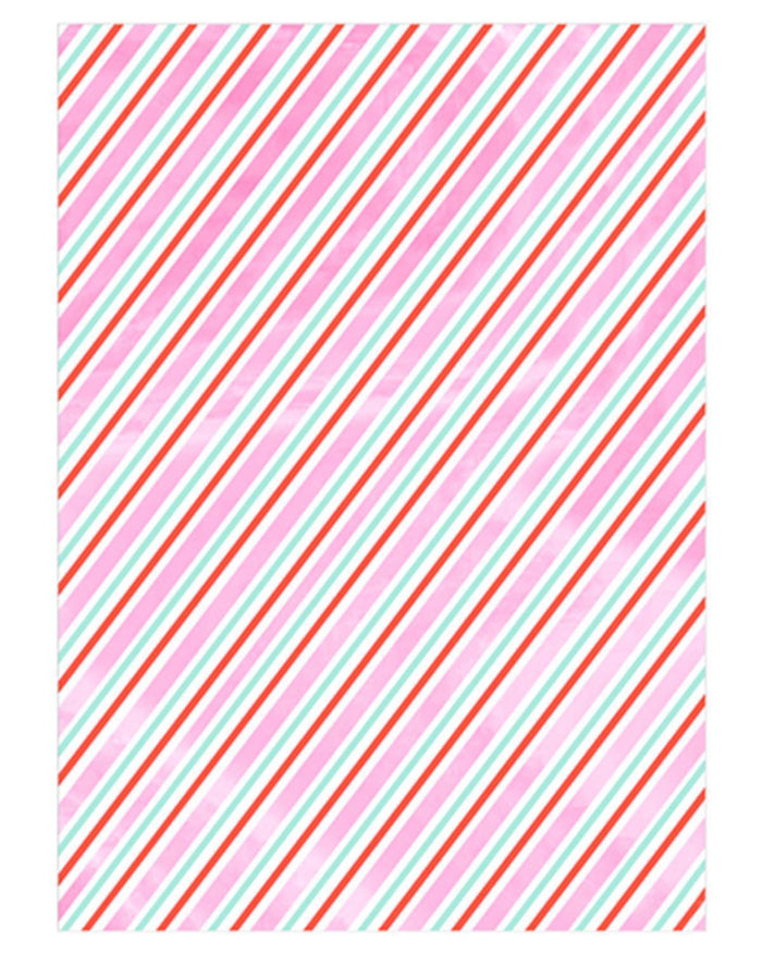 Little meri meri paper+party iridescent stripe roll wrap