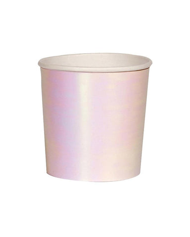 Little meri meri paper+party iridescent tumbler cups