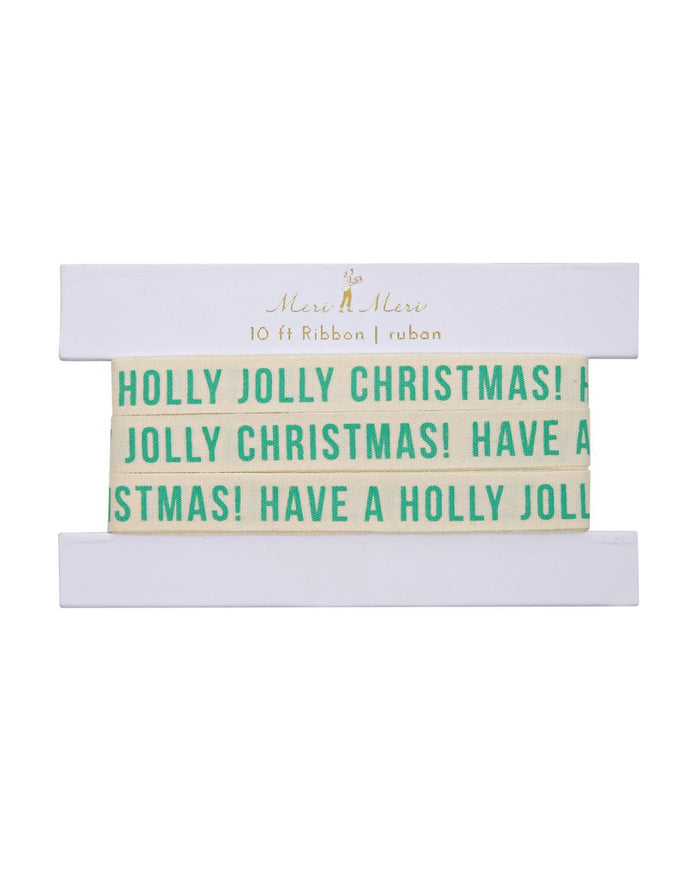 Little meri meri paper+party Jolly Christmas Gift Ribbon