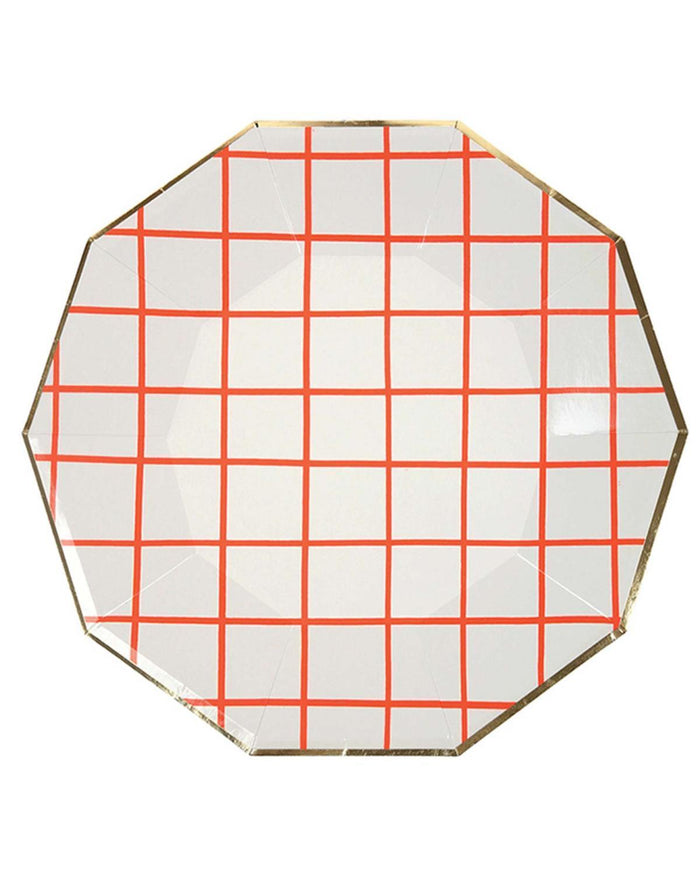 Little meri meri paper+party Large Coral Grid Plates