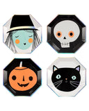 Little meri meri paper+party large halloween characters plates
