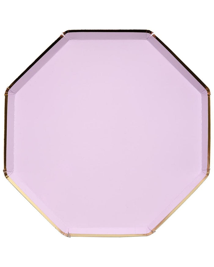 Little meri meri paper+party large lilac octagonal plate