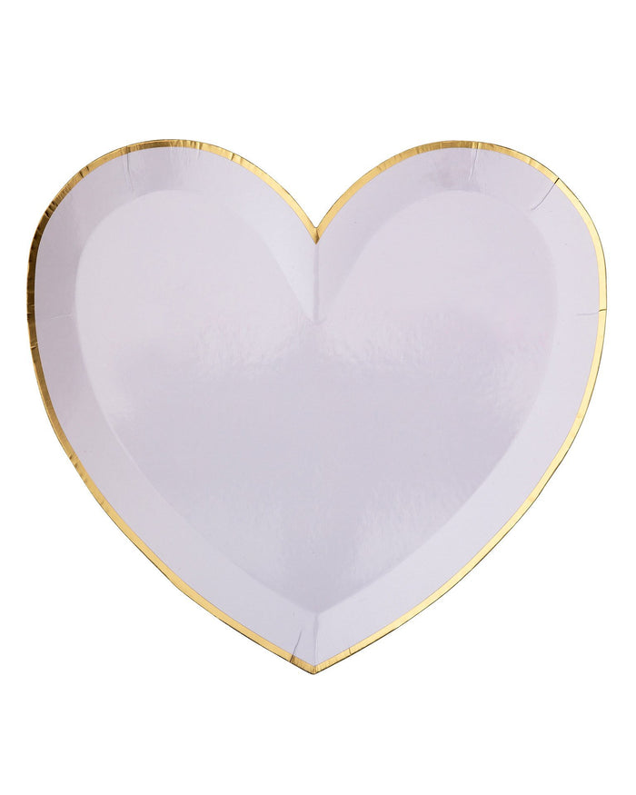 Little meri meri paper+party large pastel palette heart plates