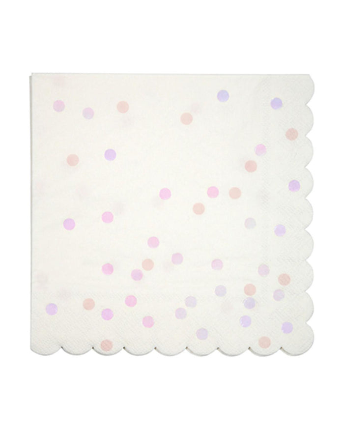 Little meri meri paper+party large spotted foil napkin