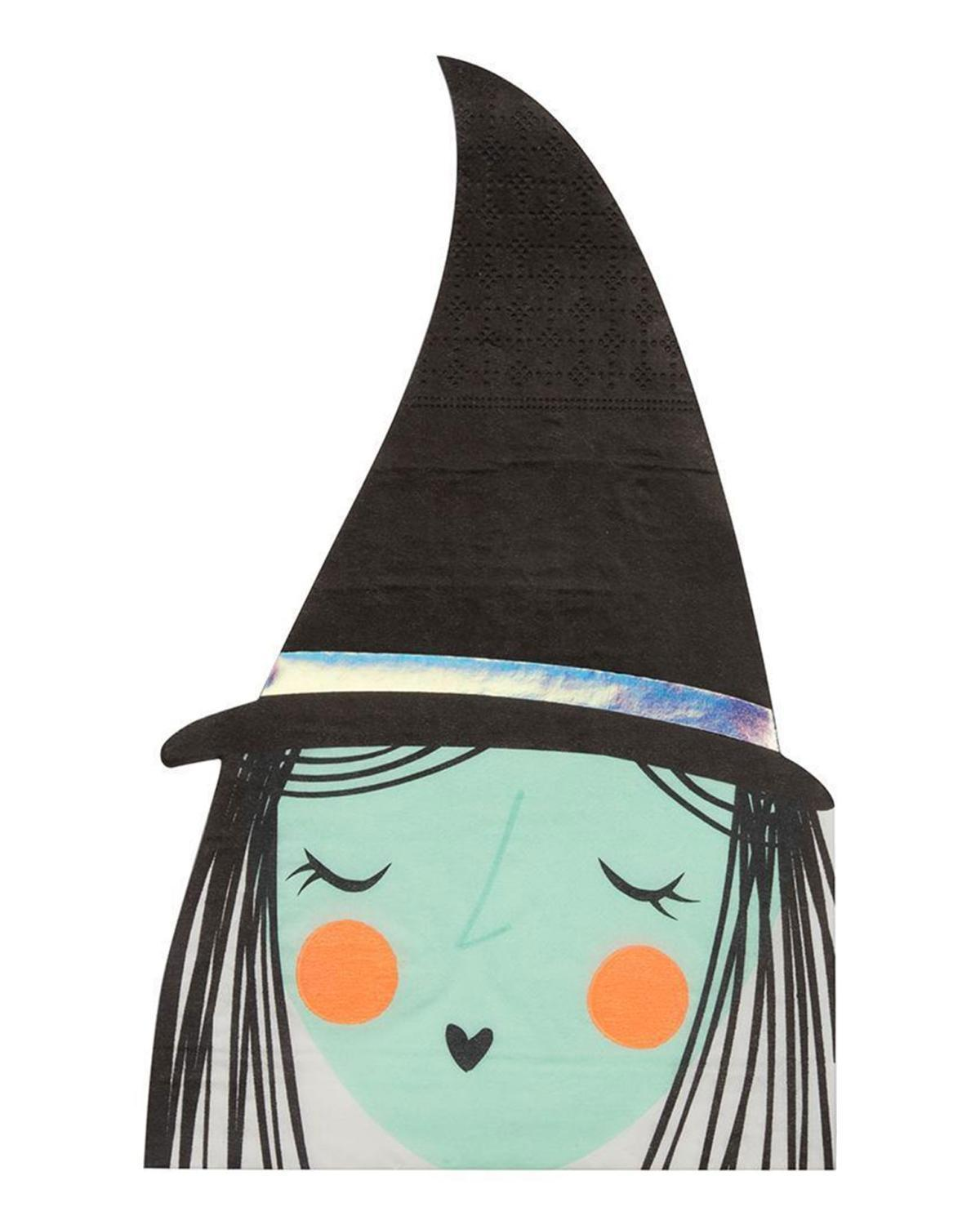 Little meri meri paper+party large witch napkin