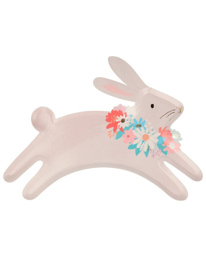 Little meri meri paper + party leaping bunny plates