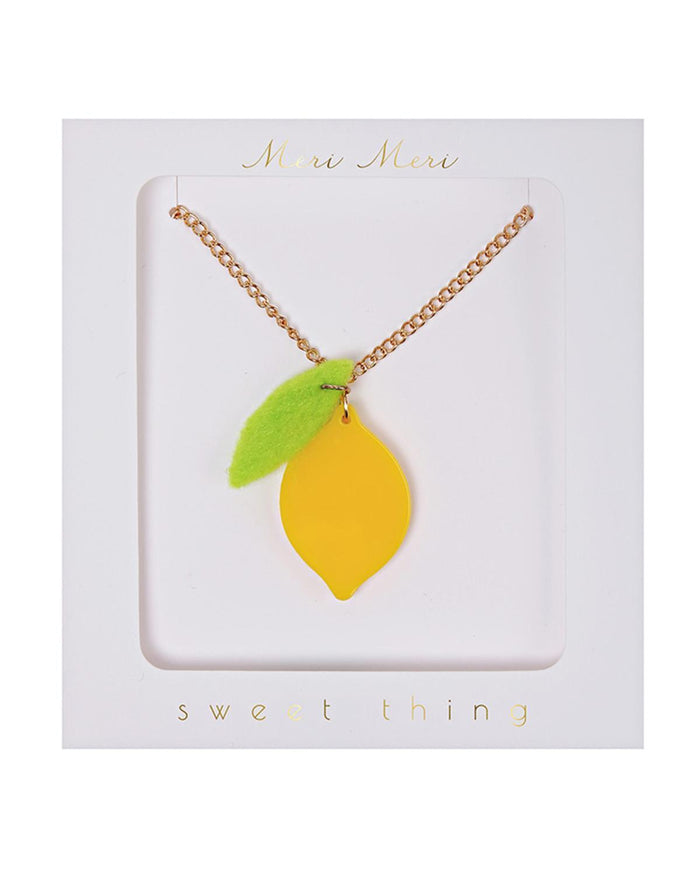 Little meri meri accessories Lemon Necklace
