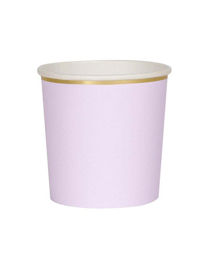 Little meri meri paper+party lilac tumblers