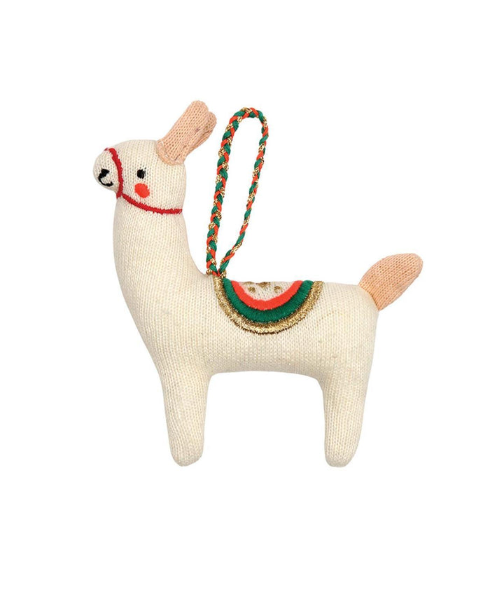 Little meri meri room Llama Knit Ornament