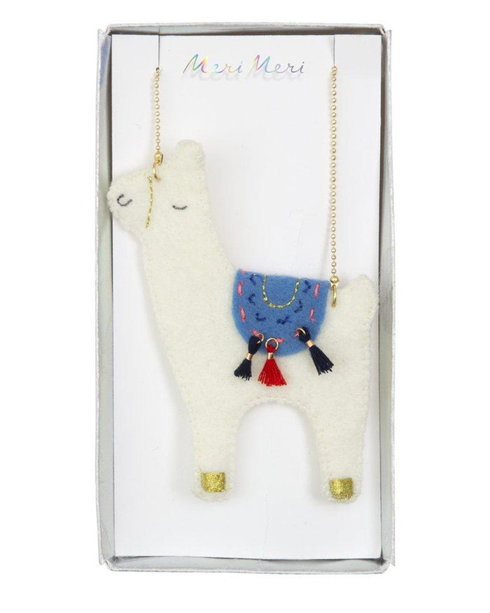 Little meri meri accessories llama necklace