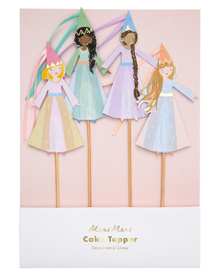 Little meri meri paper+party magical princess cake toppers