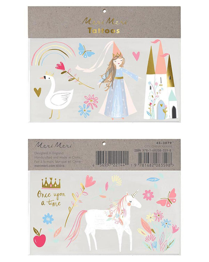 Little meri meri paper+party magical princess tattoos
