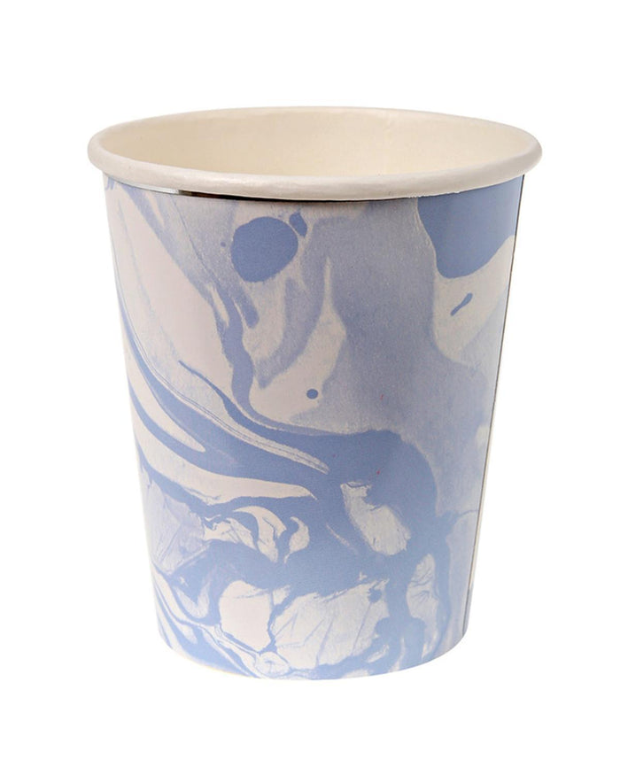 Little meri meri paper+party Marble Cups in Blue
