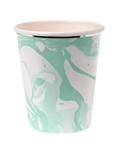 Little meri meri paper+party Marble Cups in Mint