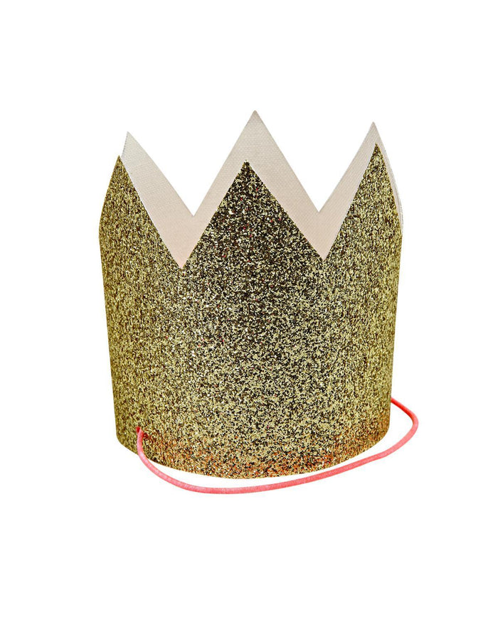 Little meri meri paper+party Mini Gold Glittered Crowns