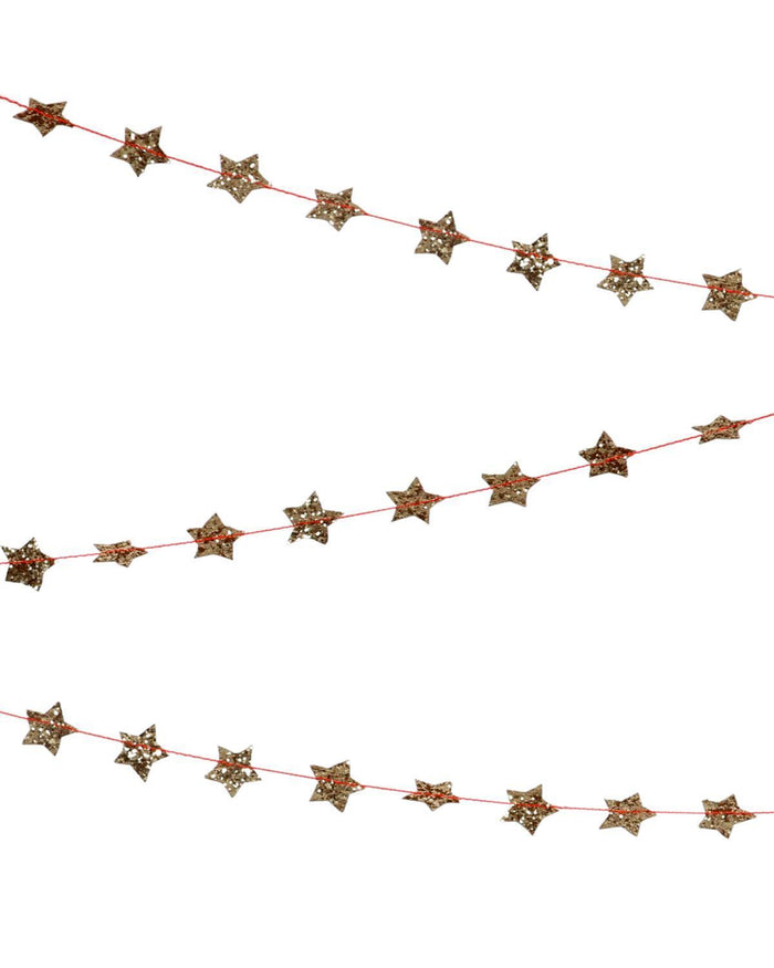 Little meri meri paper+party Mini Gold Star Garland