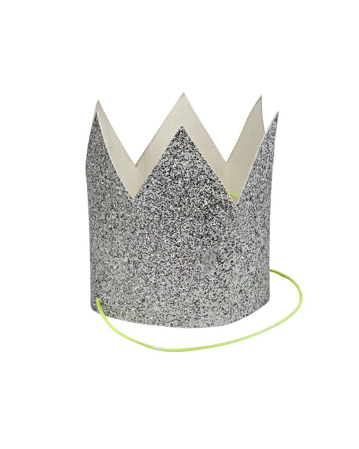 Little meri meri paper+party Mini Silver Glittered Crowns