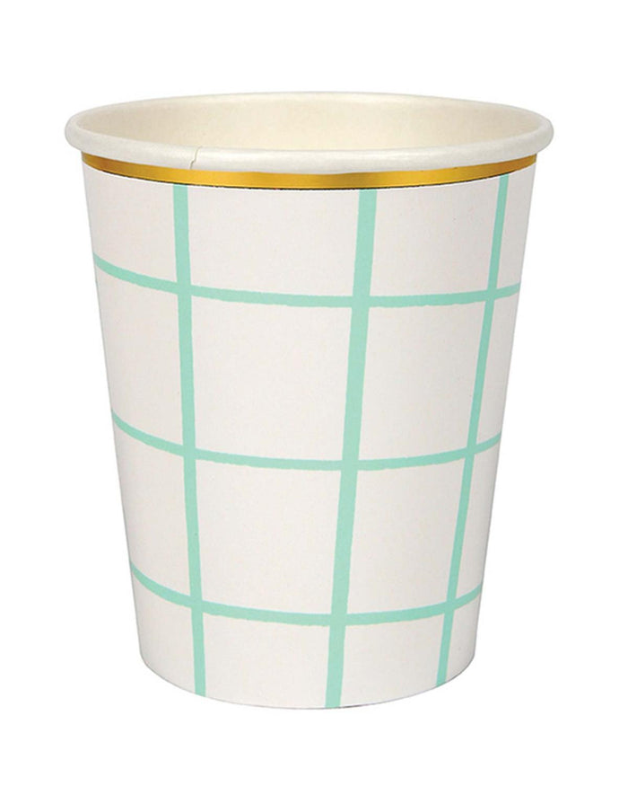 Little meri meri paper+party Mint Grid Cups