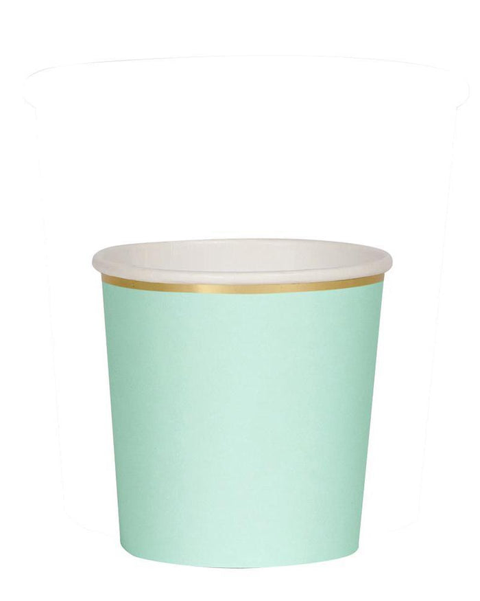 Little meri meri paper+party mint tumbler cups