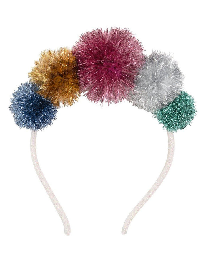 Little meri meri play multi tinsel pom pom crown