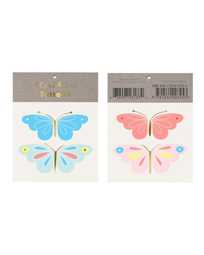 Little meri meri paper+party neon butterfly tattoo