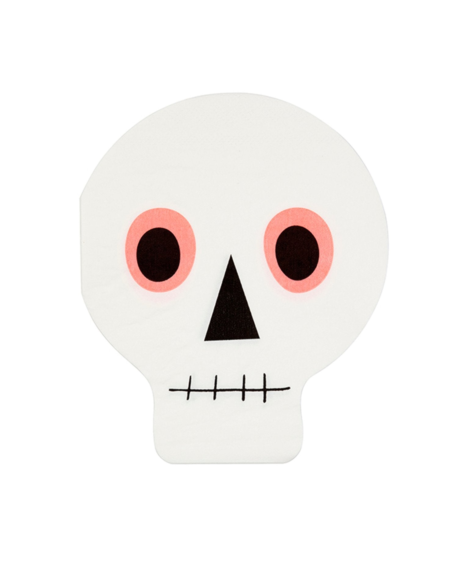 Little meri meri paper+party neon skull napkins
