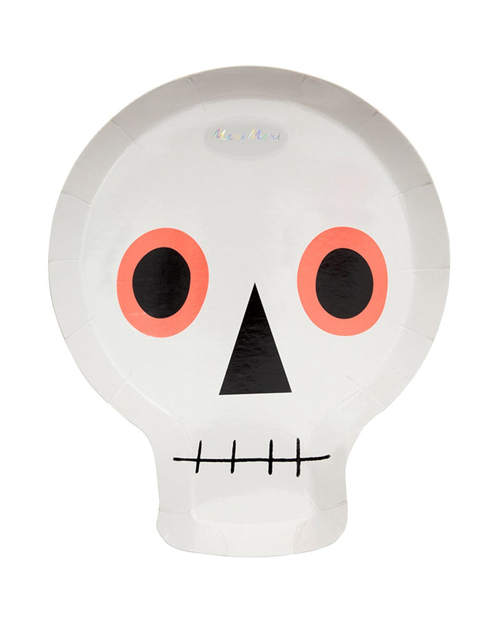 Little meri meri paper+party neon skull plates
