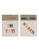 Little meri meri paper+party Oh Yay! Hooray! Tattoos