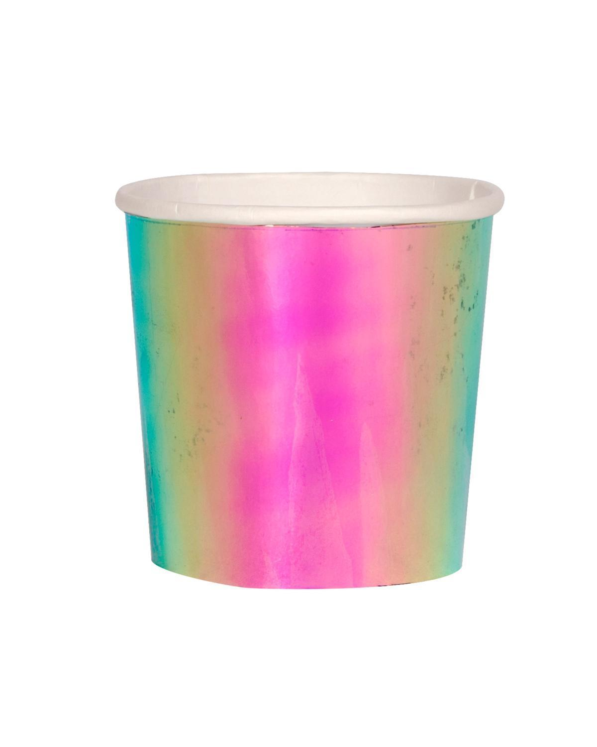 Little meri meri paper+party oil slick tumbler cup