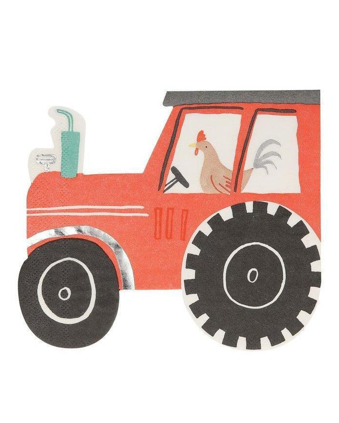 Little meri meri paper+party on the farm tractor napkins
