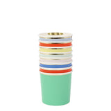Little meri meri paper+party party palette tumbler cups