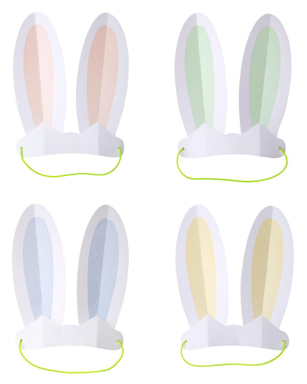 Little meri meri paper+party pastel bunny ears