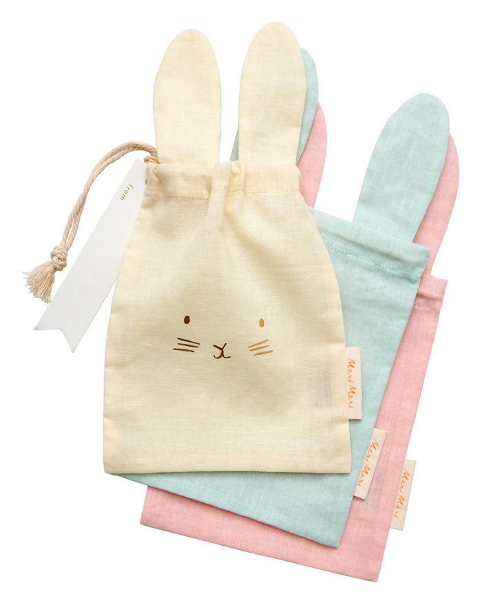 Little meri meri paper+party pastel bunny gift bag set