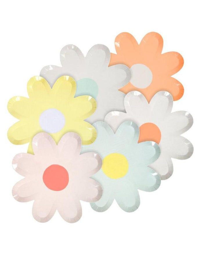 Little meri meri paper + party pastel daisy large plates