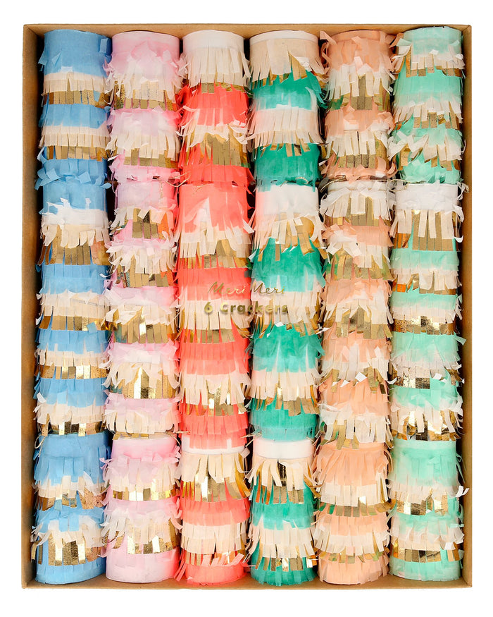 Little meri meri paper+party pastel fringe medium crackers
