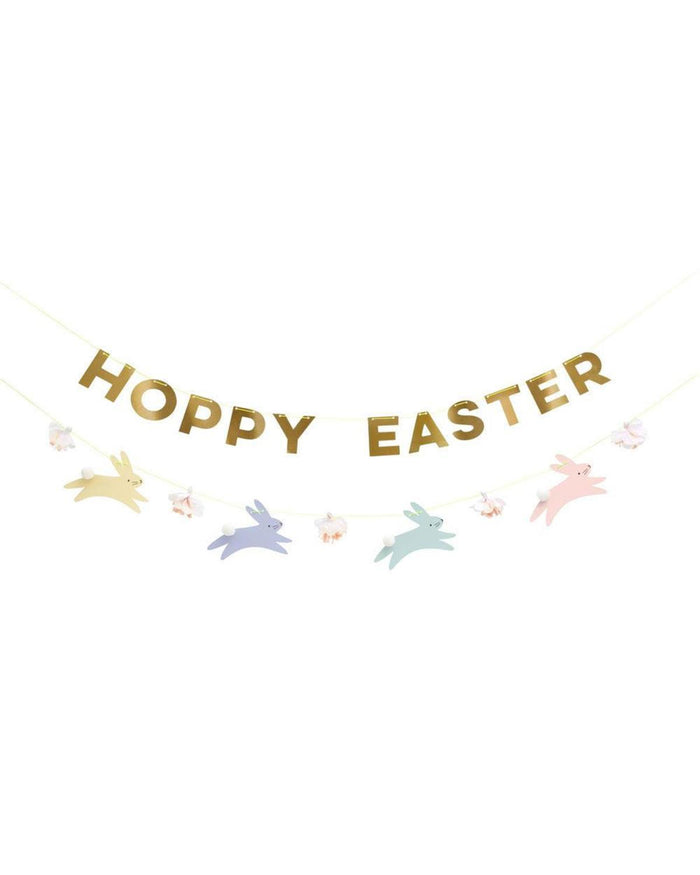 Little meri meri paper+party pastel hoppy bunny garland