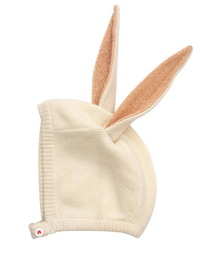 Little meri meri baby accessories peach baby bunny hat