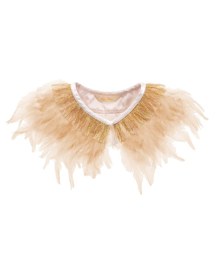 Little meri meri play peach feather collar