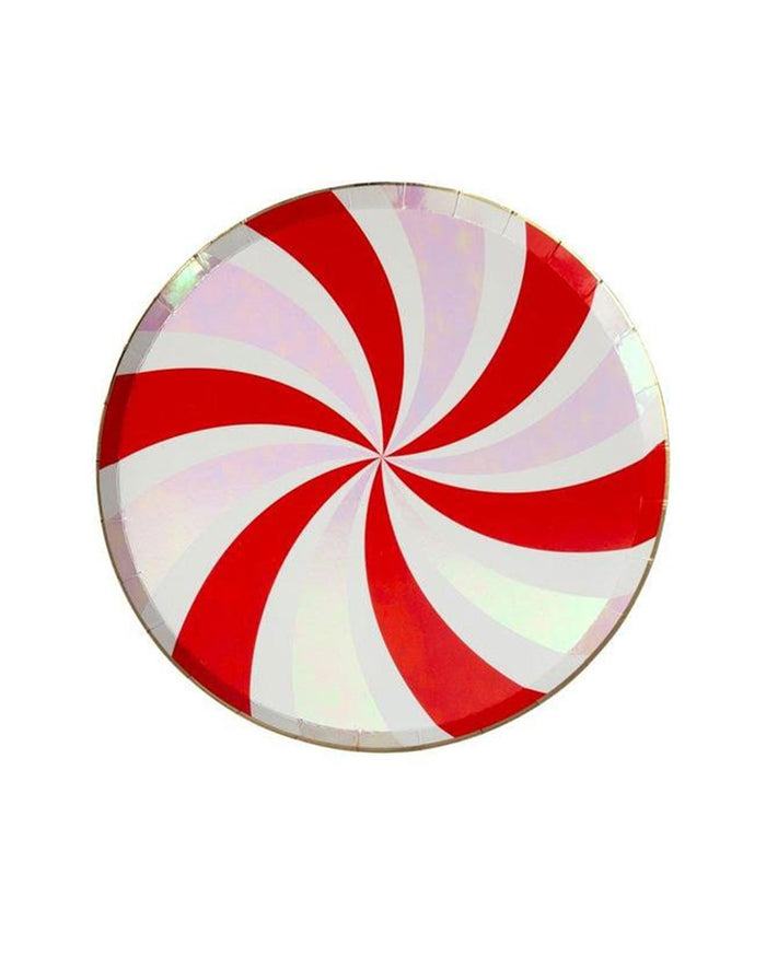 Little meri meri paper+party peppermint swirl side plate