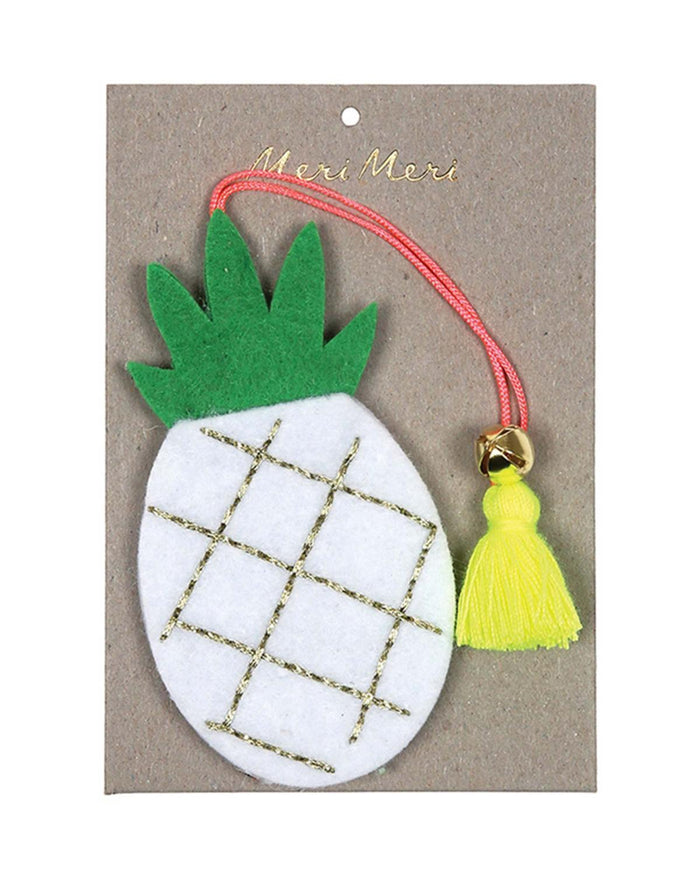 Little meri meri room Pineapple Felt Ornament