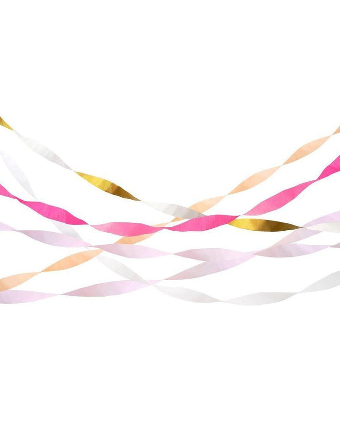 Little meri meri paper+party pink crepe party streamers