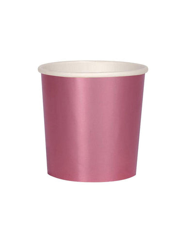 Little meri meri paper+party pink foil tumbler cups
